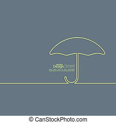 Abstract background with open umbrella Concept of protection...