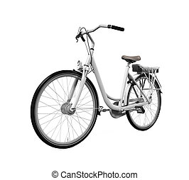 Bicycle Isolated - Bicycle isolated on white background. 3D...