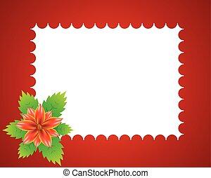 Floral red frame