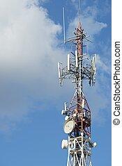 Telecommunications tower.