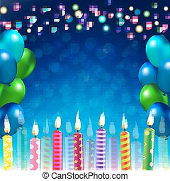Happy Birthday Banner With Gradient Mesh, Vector...