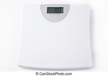 white digital scale weight