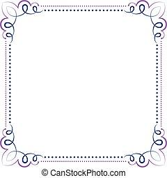 Multilayer vector violet blue elegant frame - Multilayer...