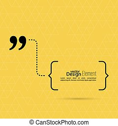 Quote sign icon - Vector abstract background with...