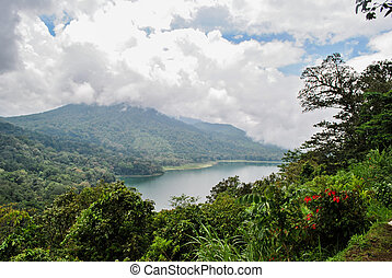 Lake Tamblingan in Bali island