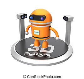 3D scanner and robot - Robot in a 3D scanner waiting for...