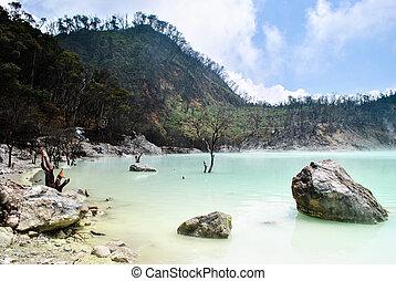 Kawah Putih crater, close to Bandung