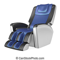Luxury massage chair - Blue comfortable massage chair. 3D...