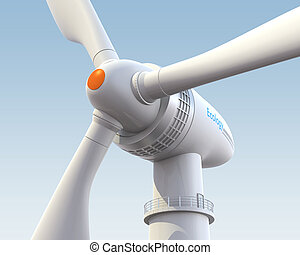 Wind turbine 3D rendering
