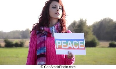 the way to peace, conceptual footage pro-peace