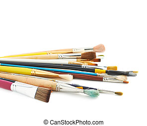Pile of multiple different brushes - Pile of multiple...