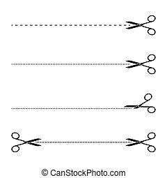 set of black scissors