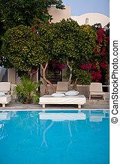 Swimming Pool - The cool swimming pool, Greece, Santorini...