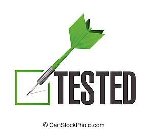 tested dart check mark of approval