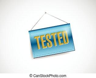 tested hanging banner sign illustration
