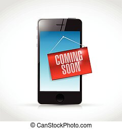 phone coming soon sign illustration