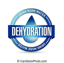 dehydration stamp illustration design over a white...