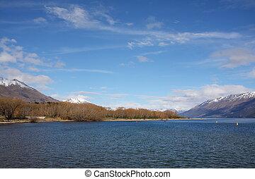 Lake Wakatipu at Glenorchy New Zealand - Beautiful day...