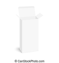 Package white box - Package white open box on a white...