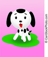 Cute dog - Cute dalmatian cartoon