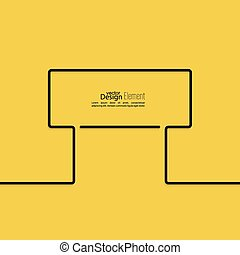 Abstract yellow background with black signs Road sign...