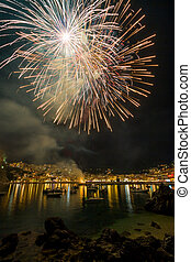 Firework on August the 15th in Parga Greece - Firework on...