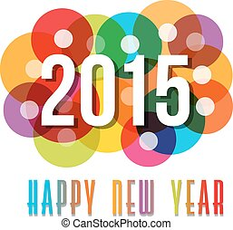 2015 Happy New Year circles background