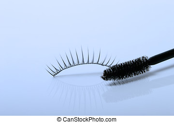 artificial eyelashes isolated