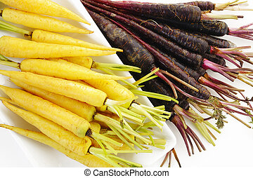 purple carrots and yellow carrots