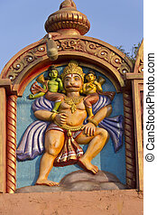 Hanuman - Image of Shri Hanuman carring Rama and Lakshman...