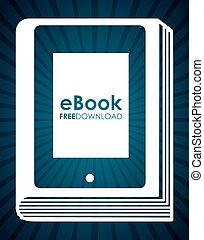 electronic book design, vector illustration eps10 graphic