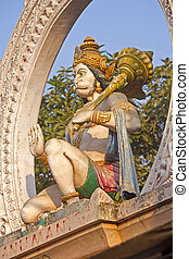 Hanuman - Sculpture of Hanuman on the temple gate in Puri