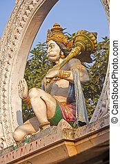 Hanuman - Sculpture of Hanuman on the temple gate in Puri