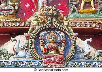 Goddess Lakshmi - Image of the Hindu Goddess Lakshmi on the...