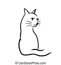 Cat sketch - This is the cat sketch in outline