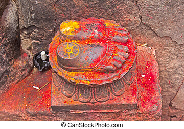Lotus feet of the Goddess Chamunda on the Chamunda hill