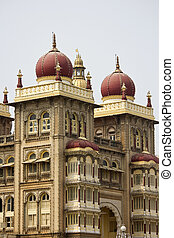 Detail of Mysore palace - FEBRUARY 22, 2014, MYSORE, INDIA -...