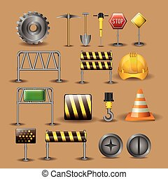 Tools design,vector illustration. - Tools design over beige...