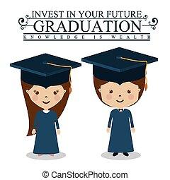 Education design,vector illustration - Education design over...