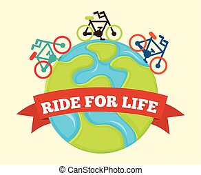 ride for life , vector illustration eps10 graphic