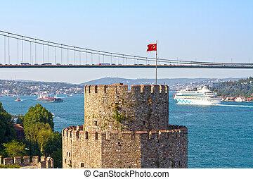Flag Tower of Rumeli Castle - Rumeli Hisari Castle (Halil...
