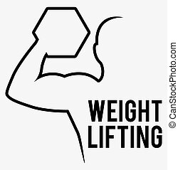 weight lifting design, vector illustration eps10 graphic
