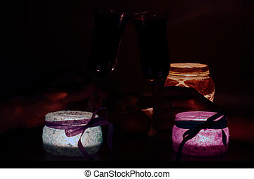 Romantic Candlelight Dinner for Two Lovers