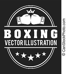 boxing sport design, vector illustration eps10 graphic