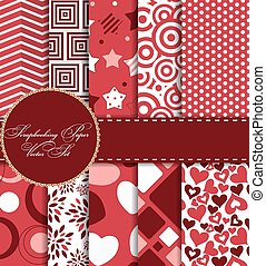 Set of Beautiful Vector Paper for Scrapbook EPS10