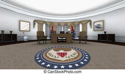 White House - image of president work room