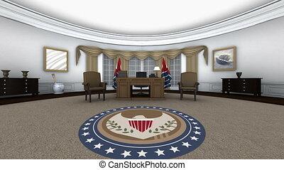 White House - image of president work room