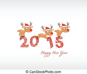 happy new year with deer