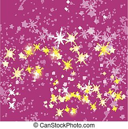 Christmas background in pink