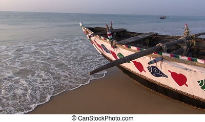 beautiful ornamental wooden boat